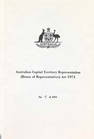 ACT Representation (House of Representatives) Act 1974 (Cth), cover