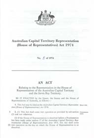 ACT Representation (House of Representatives) Act 1974 (Cth), p1