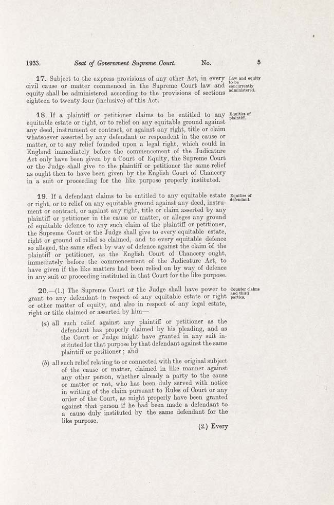 ACT Supreme Court Act 1933 (Cth), p5