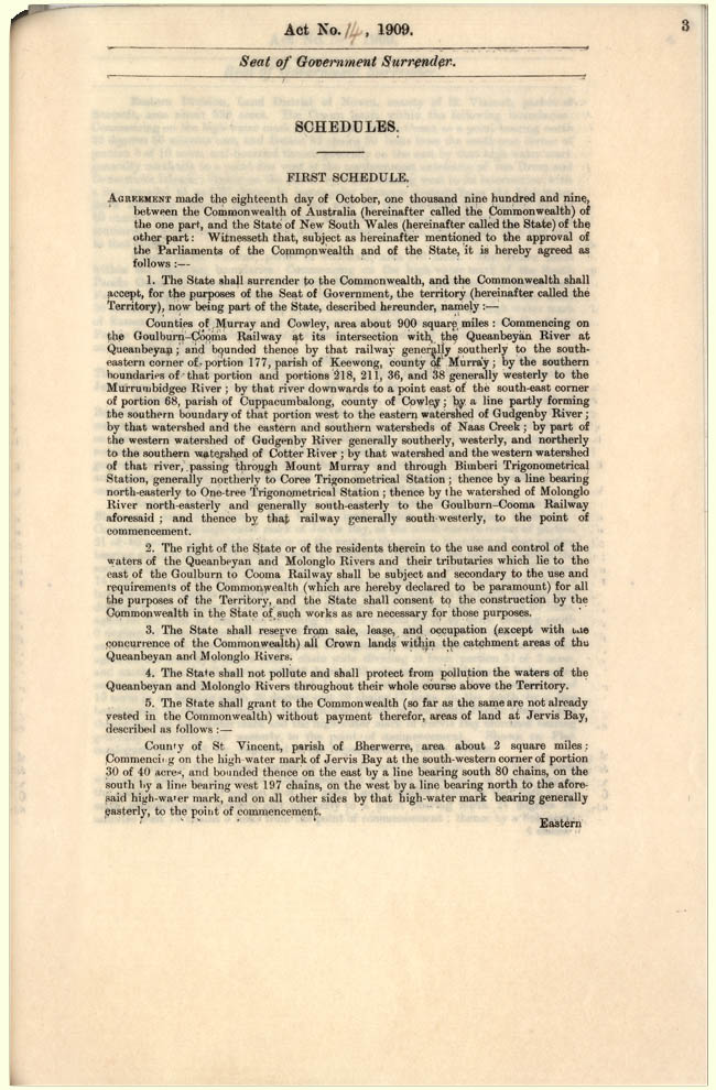 Seat of Government Surrender Act 1909 (NSW), p3