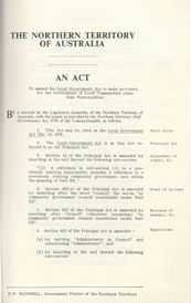 Local Government Act 1978 (NT), cover