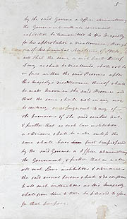 Order-in-Council Establishing Government 23 February 1836 (UK), p5