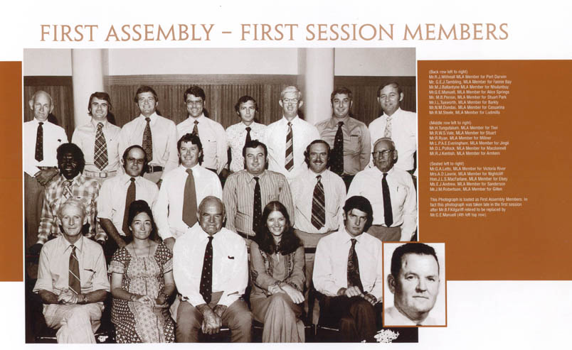 Souvenir of the 25th anniversary of the Legislative Assembly of the Northern Territory